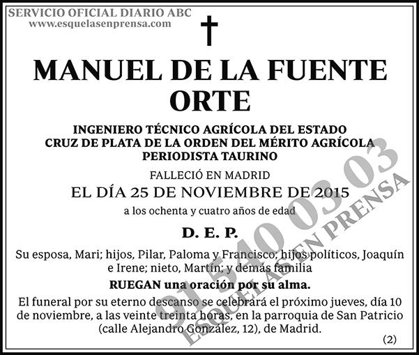 Manuel de la Fuente Orte